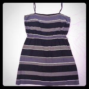 ⚓️ GAP, Navy Blue & White Striped Dress XXL